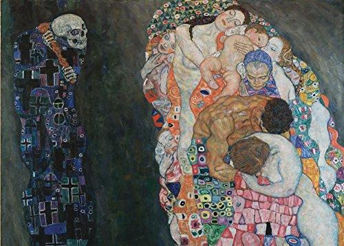 World of Art Global Gustav Klimt Tod und Leben, Detail circa1910-15. 250 g/m², glänzend, Kunstdruck, A3, Reproduktion