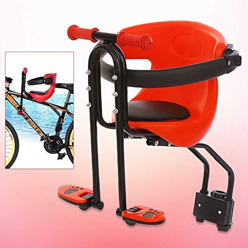 Berkalash Kindersitz Fahrrad, Vordersitz Kindersitz mit Pedal und Griff, für Fahrrad Vorne Faltbare Kinder Fahrradsitz Sattel, Lager -30kg