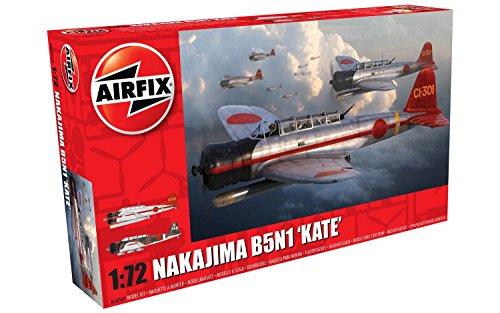 Airfix- Kit de modelismo, avión Nakajima B5N1 Kate (Hornby A04060)