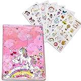 Unicorn Briefpapier Set,Einhorn Geschenke für Mädchen,Einhorn-Notizbuch inklusive Federmäppchen/Notizbuch/Aufkleber für kleine Mädchen mit Einhorn-Elementen