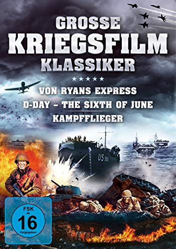 Große Kriegsfilm-Klassiker - Von Ryans Express / D-Day - The Sixth of June / Kampfflieger [3 DVDs]