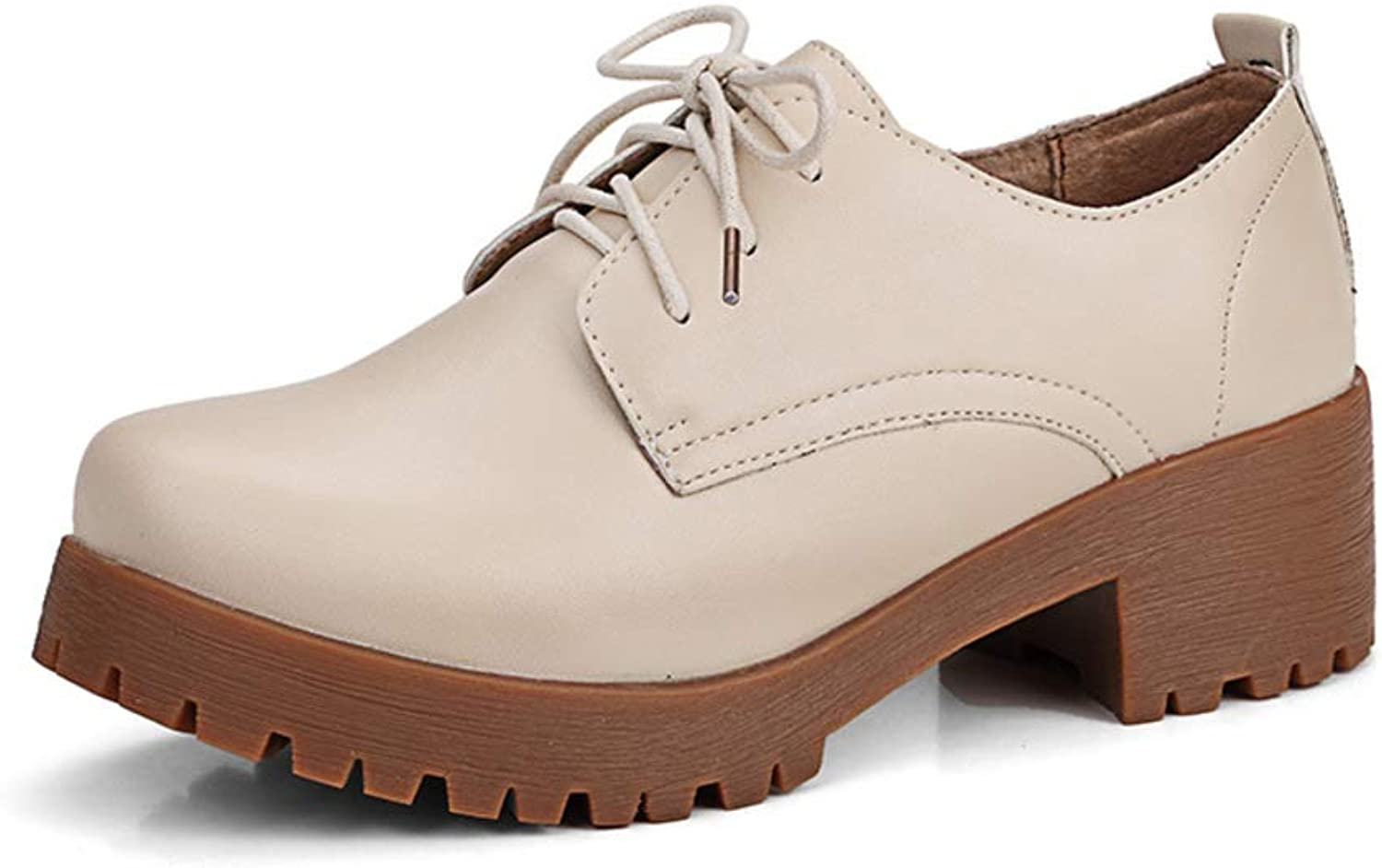 Flats Women's Casual shoes, Winter Warm Lace-up Wedges