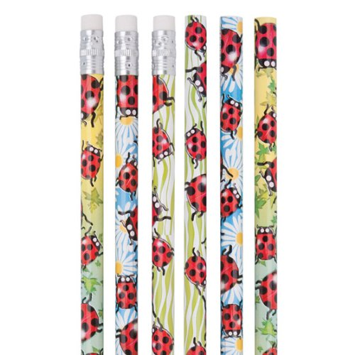 Foil Ladybug Pencils - 50 per pack