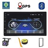 Android Radio 2 Din Coche Bluetooth GPS Para Coche 7 Pulgadas HD Pantalla Táctil WiFi/Bluetooth Autoradio 1G/16G Multimedia Car Stereo Cámara De Visión Trasera