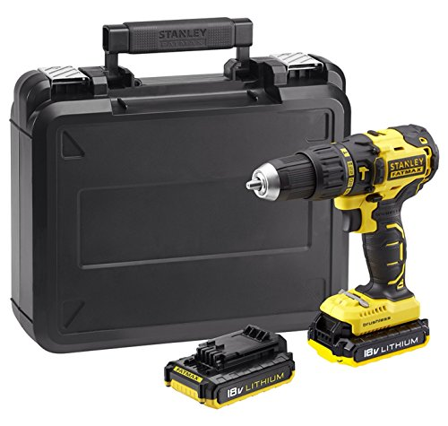 18V FATMAX BRUSHLESS COMBI DRILL X2 2.0AH BATTERIES FAST CHARGER BATTERY LIFE INDICATOR CARRYING CASE