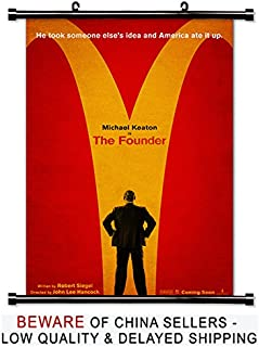 The Founder Movie Fabric Wall Scroll Poster (32x47) Inches