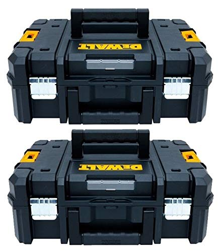 Dewalt DWST1-70703 TStak II Aufbewahrungsbox für Elektrowerkzeuge, 13,5 l, T-STAK Koffer – Doppelpack