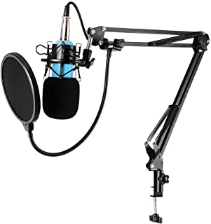 Karaoke Studio Recording Cardiod Condenser Microphone Set KTV Sing Capacitor Music Mic with Shock Mount Windshield