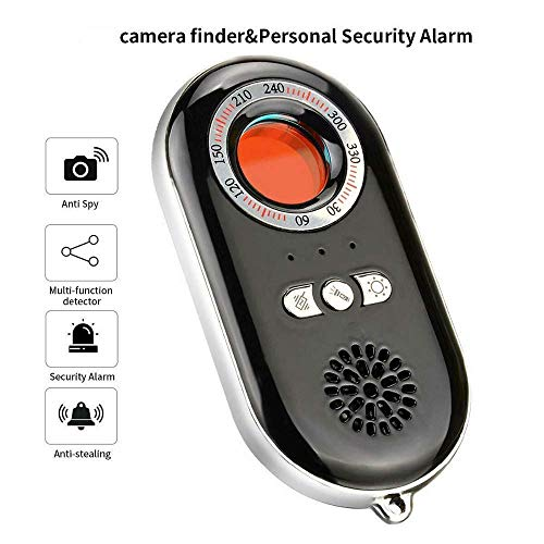 El Detector de Infrarrojos portátil, Incluye un Detector de cámara Oculta Anti espía, Alerta de Emergencia de Defensa Personal de Alarma, Linterna Mini LED, para Viajes y Seguridad en hoteles
