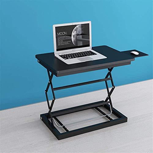 Zixin Gesunde Sit-Stand Desktop-Comput workstatio, Movable Notebook Schreibtisch mit Schiebetastatur, Höhenverstellbarkeit Stehen Schreibtisch RIS -Schwarz