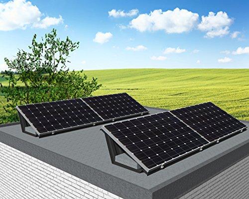 Photovoltaik Komplettsystem | 1,02 kWp - 4 Solarzellen mit Aufstellbox für Carport, Garten, Garagendach