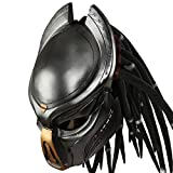 Predator Helmet Movie 1:1 Replica Resin Black Mask for Men Halloween Cosplay Costume