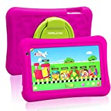 Toddler Tablet 7 Kids Tablet for Toddlers Android 10 Children Tablet for Kids with WIFI Camera 2GB + 32GB Parent Control Google Play Store Youtube Netflix Portable Shock Proof Handle Case (Rose Red)0