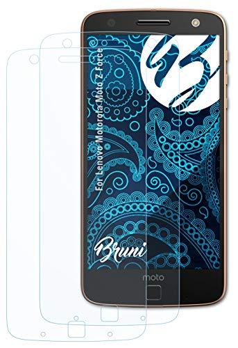 Bruni Schutzfolie kompatibel mit Lenovo Motorola Moto Z Force Folie, glasklare Bildschirmschutzfolie (2X)