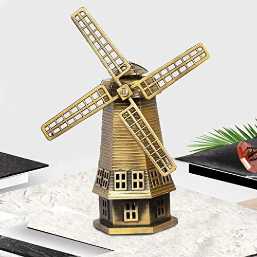 Modelo de molino de viento antiguo Decoración de la estatua
