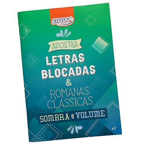 Apostila de Lettering, Brw, 25729, Letras Blocadas e Romanas Clássicas