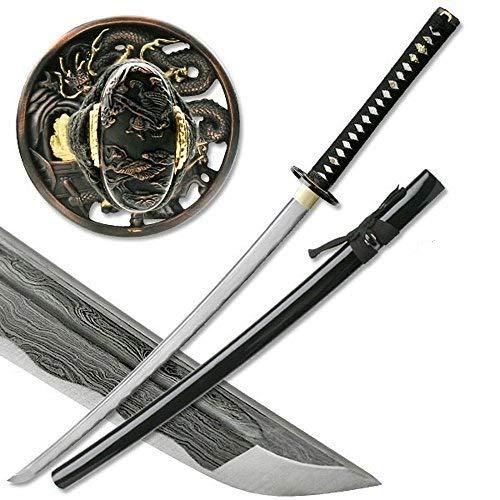 Masahiro Damascus Sword of The Serpent Hunting Knife