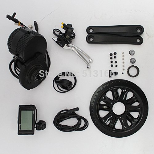 36V 350W 8Fun/Bafang Mid-Drive Motor Conversion Kits with integrated Controller and LCD Display