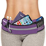 E Tronic Edge Waist Packs: Best Comfortable Unisex Running Belts That Fit All Waist Sizes & All Phone Models for Running, Hiking, Workouts, Cycling, Travelling Money Belt & More, Violet