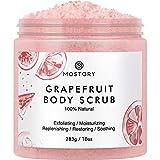 Natural Grapefruit Exfoliating Body Scrub - Shooting Organic Dead Sea Salt Anti Aging Acne Wrinkles...