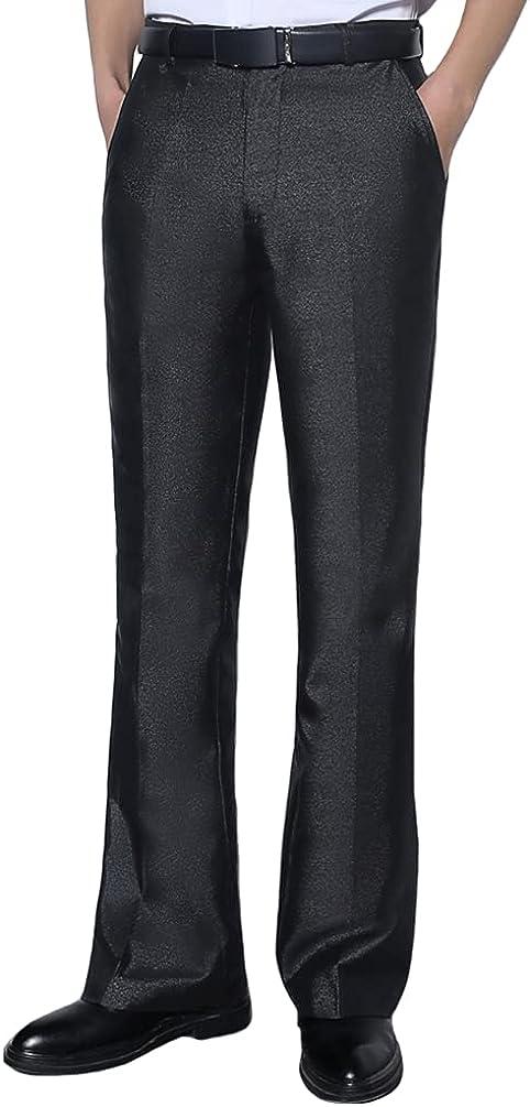 HAORUN Max 73% OFF Men Bell Bottom Now on sale Pants 60s Dress 70s Flare Formal Vintage