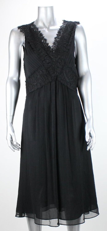 Alfani Black V Neck Lace Shoulder Dress Msrp