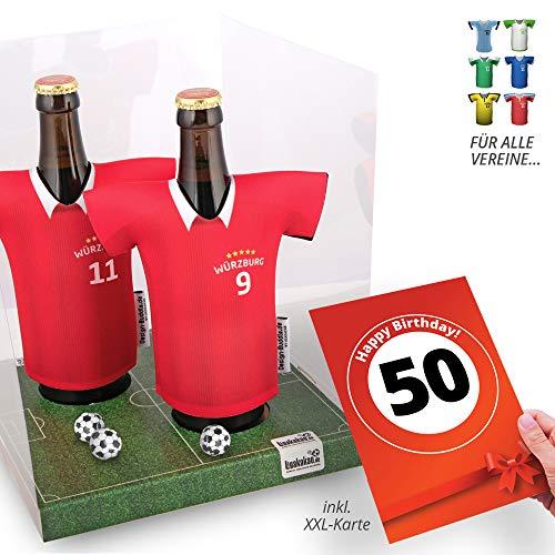 50. Geburtstag   Der Trikotkühler   Das Männergeschenk für WÜRZBURGER Kickers-Fans   Langlebige Geschenkidee Ehe-Mann Freund Vater Geburtstag   Bier-Flaschenkühler by Ligakakao