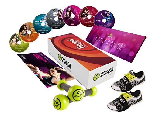 Zumba-Set, esilarare-set completo, join the Party con alimentazione sana Plan e Zumba Fitness Toning Sticks