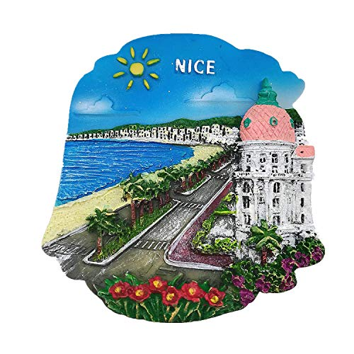 Nice France Aimant de réfrigérateur 3D Décoration de maison & cuisine Aimant de réfrigérateur Nice France Cadeau souvenir de voyage
