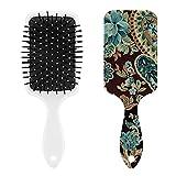 Spazzola per capelli con manico antiscivolo, anti-statico, da uomo, colore marrone, turchese