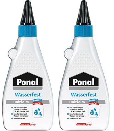 Ponal Holzleim Wasserfest für Verleimungen in Feuchträumen (2x 550g)