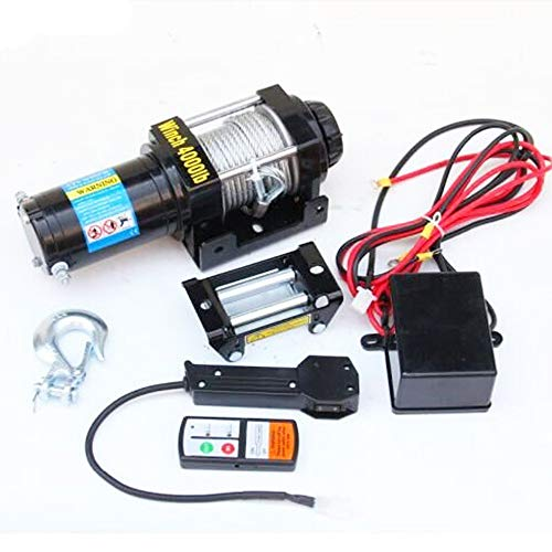 YEZIO Cable de cabrestante ATV/UTV 3500LB Torno, cabrestante eléctrico 12V, 4X4 /...