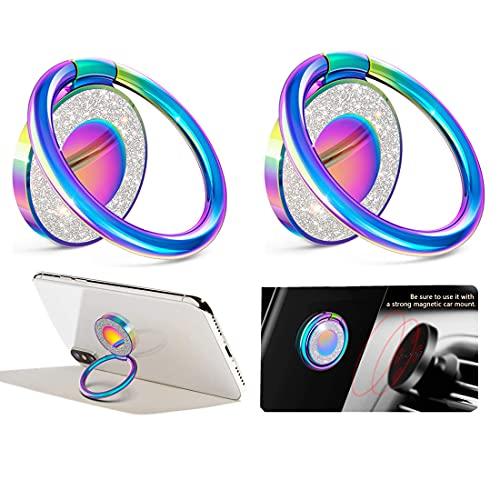 mciskin Ring Handy Halter,Genialer Glitzer Ring Handy Halter,Handy Fingerhalterung Smartphone Ring,Universal 360° Fingerhalter Handyhalterung für iPhone,Samsung.alle Telefone(2 Stück)