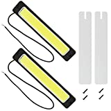 Safego 2Pcs/Set DRL COB LED Conducción Luces Diurna Faros Luz de Niebla 8W 300LM 6000K 56Chips Xenon Blanco Impermeable