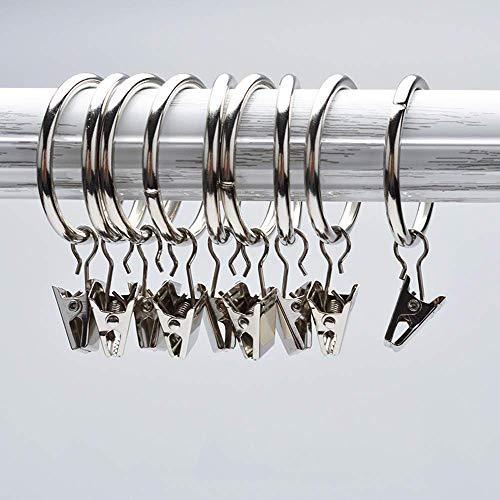 Musuntas 30 Stk. 30mm Durchmesser Mehrzweck Vorhang Clip Vorhängestange Vorhängeringe Vorhangringe mit Clips