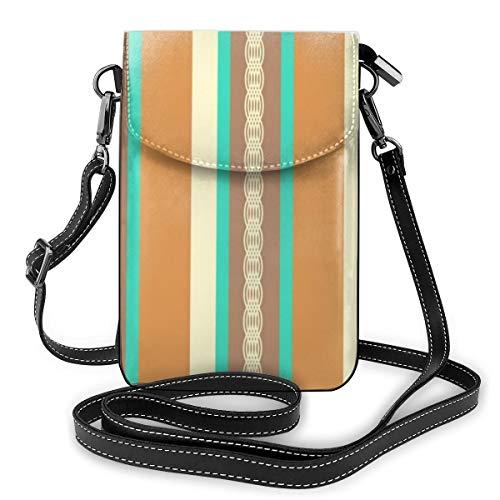 Goxegag Ultimative Funktionelle Handytasche aus Leder, leicht, mit kleiner Schultertasche und verstellbarem Riemen, für Damen, Sonnensegel, Türkis