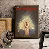 XWArtpic Nuevo Drama de Ciencia ficción Vintage Poster TV pictórico Stranger Things Bedroom Decoración para el hogar Nursery Kids Room Lienzo Pintura 40 * 50cm X