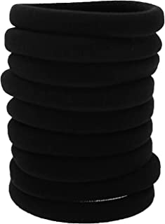 Hair Ties for Women Large Stretch Hair Ties Headband for Thick Heavy and Curly Hair Black 9PCS
