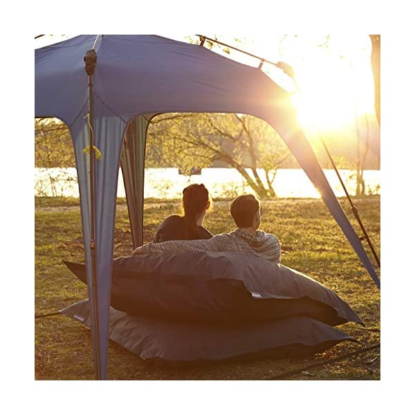 Lumaland Where Tomorrow Pop Up Gazebo with 1x Sidewall - Large Event Pavilion - Festival Party Tent - Standing Height 1… 1