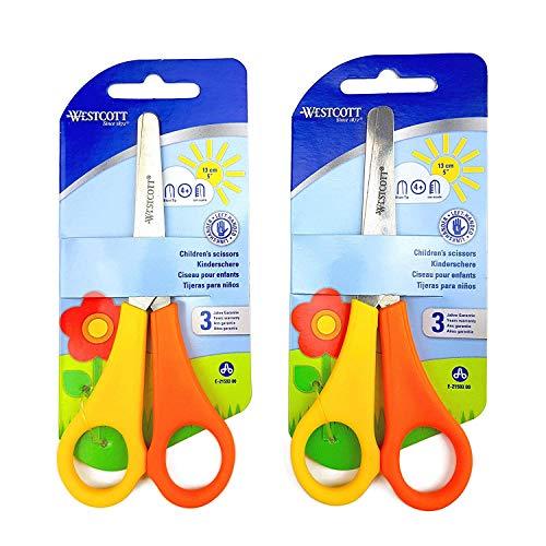 Westcott 2Paar Schere und Ausguss, für Kinder Linkshänder