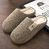 Zapatillas Casa Hombre Mujer Zapatillas Cálidas De Invierno para Hombre, Zapatillas para Hombre, Niños, Zapatillas De Felpa, Zapatos De Algodón, Antideslizantes, Color Sólido, Zapatillas Informal