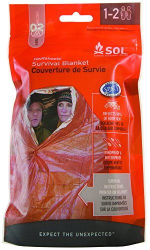 Adventure Medical Kit Sol SOLCOUV2 Couverture Double Orange