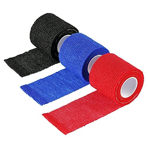 Herolio selbsthaftende Bandage, Verband, Haftbandage - Bandagen Set 3 Stück 5cm x 450 cm