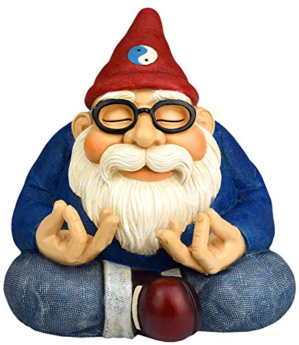 The Ohm Gnome - 8.5' Tall (Smiles and Serenity for Your Home Or Fairy Garden) by Twig & Flower