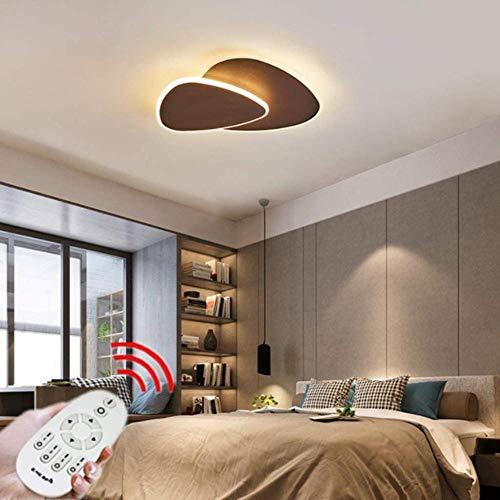 Lámparas de techo triangulares LED Diseño moderno Lámpara de dormitorio con personalidad regulable con acrílico Lámpara para niños Actividad juvenil Decoración Pasillo Techo-50cm_marrón