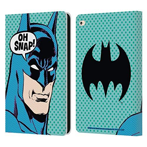 Head Case Designs Oficial Batman DC Comics Arte Pop Moda Vintage Carcasa de Cuero Tipo Libro Compatible con Apple iPad Air 2 (2014)