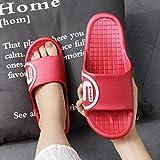 TDYSDYN Zapatos de Piscina Zapatos de Agua para baño,Chanclas de Pareja de Rana, Sandalias y Pantuflas cómodas, Suaves y transpirables-838 Escarlata_42-43