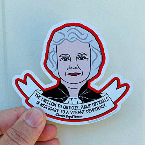 rfy9u7 Stickers for Window and Wall Decor, The Freedom to Criticize Sandra Day O'Connor Quote Vinyl Sticker, 3 Inch, Set of 30