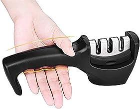 Afilador de cuchillos profesional, herramienta de cuchillo multifunción de 3 capas - Cuchillas y cuchillas de pulido Diseño antideslizante La mejor herramienta profesional para afilar cuchillos