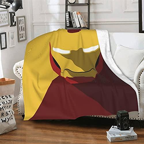 Supereroe Tony Stark American Comics Iron Man Avengers 3 Infinity War, coperta per aria condizionata, leggera, super morbida, estiva, per divano e poltrona, 152,4 x 127 cm